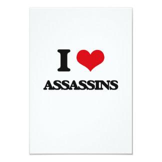 I love Assassins 3.5x5 Paper Invitation Card