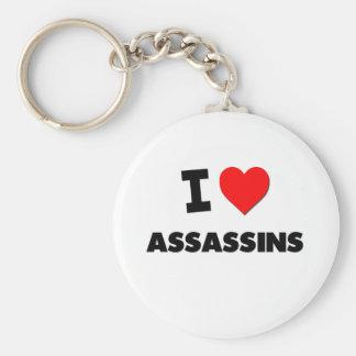 I Love Assassins Basic Round Button Keychain