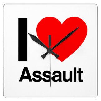 i love assault wall clock