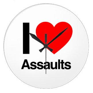 i love assaults wall clocks
