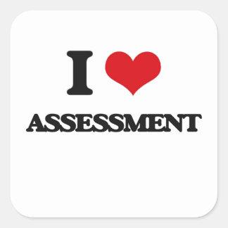 I Love Assessment Square Sticker