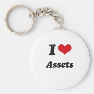 I Love Assets Keychain