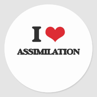 I Love Assimilation Round Stickers