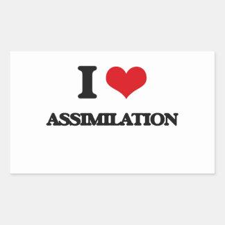 I Love Assimilation Rectangular Stickers