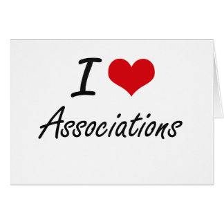 I Love Associations Artistic Design Stationery Note Card