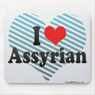 I Love Assyrian Mouse Pad