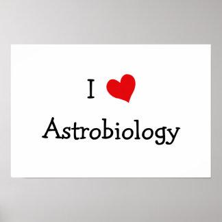 I Love Astrobiology Poster