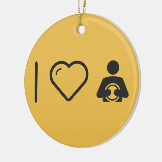 I Love Astrologists Double-Sided Ceramic Round Christmas Ornament