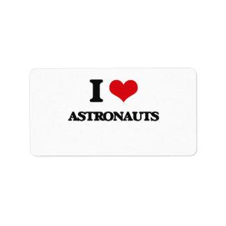 I love Astronauts Custom Address Labels