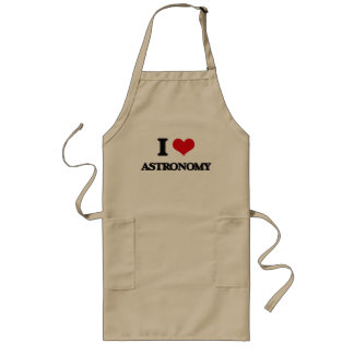 I Love Astronomy Long Apron