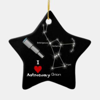 I Love Astronomy Ornament