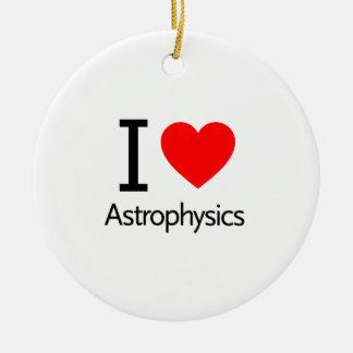 I Love Astrophysics Ceramic Ornament