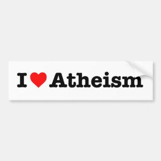 """""""I LOVE ATHEISM"""" BUMPER STICKER"""