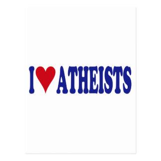 I Love Atheists Postcards