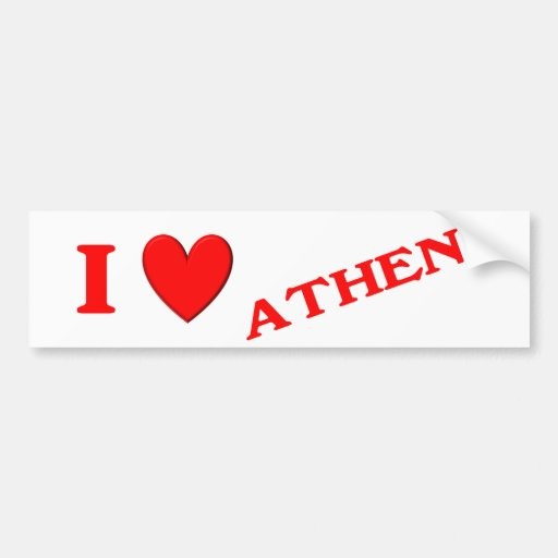 I Love Athena Car Bumper Sticker