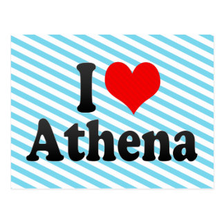 I love Athena Postcards