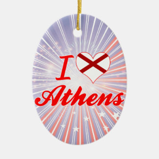 I Love Athens, Alabama Christmas Tree Ornaments