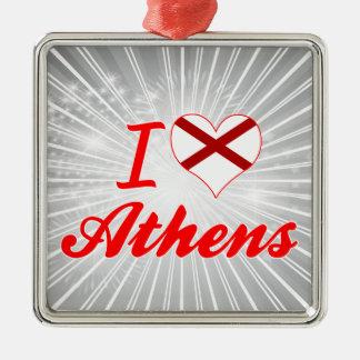 I Love Athens, Alabama Christmas Ornament