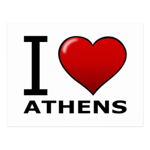 I LOVE ATHENS,GA - GEORGIA POSTCARD