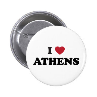 I Love Athens Georgia 2 Inch Round Button