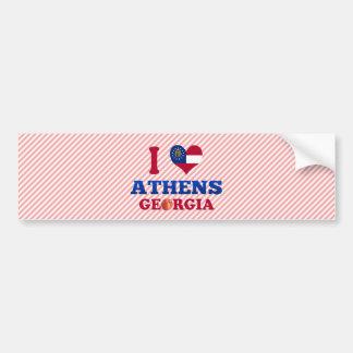 I Love Athens, Georgia Car Bumper Sticker