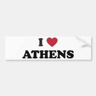 I Love Athens Georgia Car Bumper Sticker