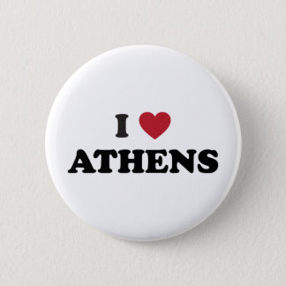 I Love Athens Georgia Button
