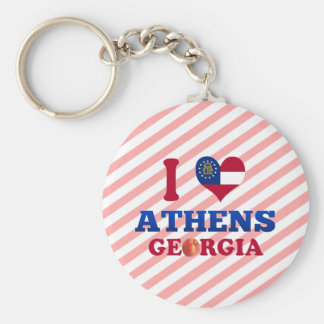 I Love Athens Georgia Keychains