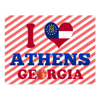 I Love Athens, Georgia Postcard