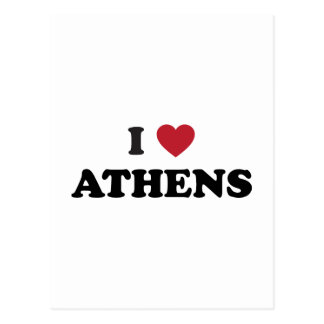 I Love Athens Georgia Postcard