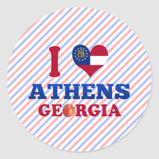 I Love Athens, Georgia Round Stickers