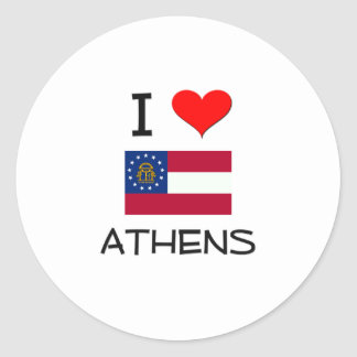 I Love ATHENS Georgia Stickers