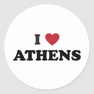 I Love Athens Georgia Round Stickers