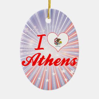 I Love Athens, Illinois Ornament