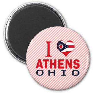 I love Athens, Ohio 2 Inch Round Magnet