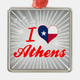 I Love Athens, Texas Ornaments
