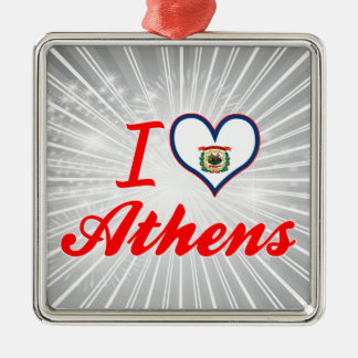I Love Athens, West Virginia Ornaments