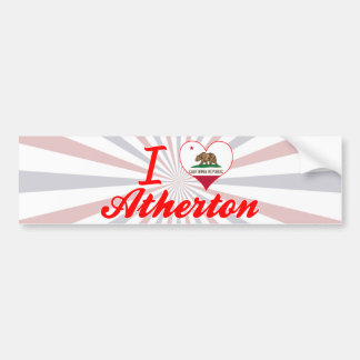 I Love Atherton, California Bumper Sticker