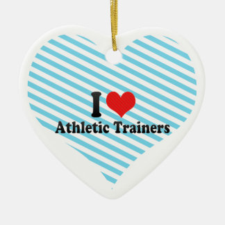 I Love Athletic Trainers Christmas Ornament