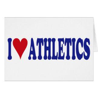 I Love Athletics Greeting Cards