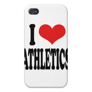 I Love Athletics Cases For iPhone 4