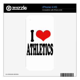 I Love Athletics Decal For The iPhone 4