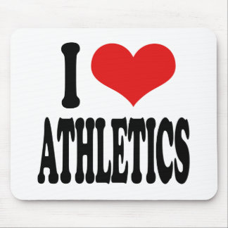 I Love Athletics Mouse Pad