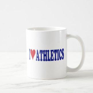 I Love Athletics Mugs