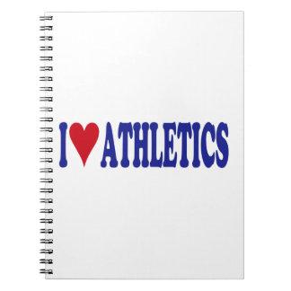 I Love Athletics Spiral Notebook