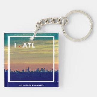 I Love Atlanta (ATL) - Square Keychain