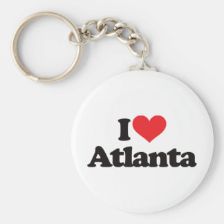 I Love Atlanta Basic Round Button Keychain