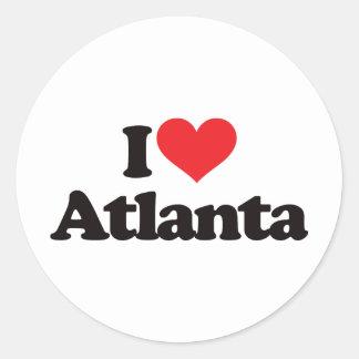 I Love Atlanta Classic Round Sticker