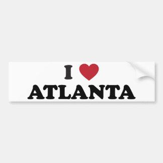 I Love Atlanta Georgia Bumper Sticker