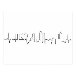 I love Atlanta in an extraordinary ecg style Postcard